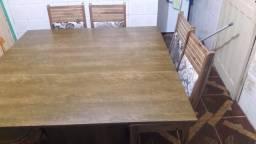 Barbada mesa com 4 cadeiras novas (480,00)Ac.cartao