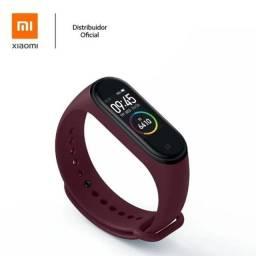 Relogio Smartwatch Xiaomi Mi Band 4 Vinho Original Lacrado Smart Band - Loja Natan Abreu