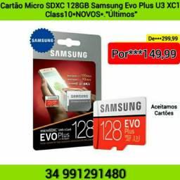 Cartão Micro SDXC 128GB SAMSUNG EVO PLUS U3 Classe10 . NOVOS ÚLTIMOS