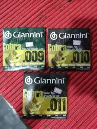 Cordas de aço Giannini para violão