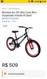 Bicicleta aro 20 garra Flash Bmx