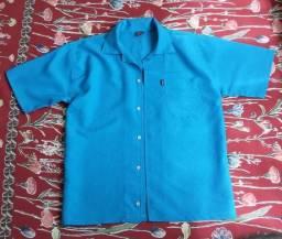 Camisa Manga Curta - Nova - P - Azul Claro