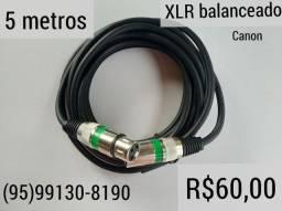Atend. 24h 5 metros cabo XLR XLR balanceado para microfone e dmx