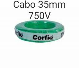 Cabo elétrico corfio 35mm 750V verde