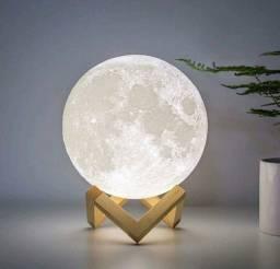 Super Queima de Estoque Luminária Lua Cheia 3D Troca de Cor (Nova e com Garantia)