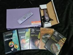 DVD karaokê Philco com 5 DVDs de karaokê
