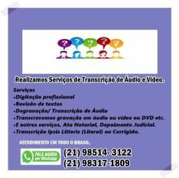 Transcrição de Áudio R$ 60,00