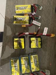 7 Baterias drone Racing FP tattu r-line 4s