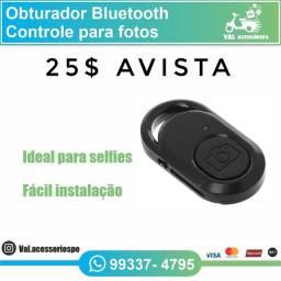 Botão bluetooth para filmar ou bater fotos do celular