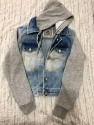 Jaqueta jeans com moletom P