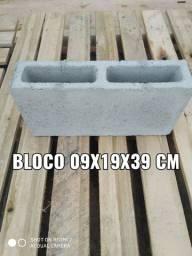 Bloco 09x19x39 cm - construção de casas e muros - * WhatsApp