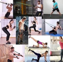 Elásticos para exercício - Kit Elásticos - Atividade Física - Novo