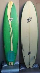 Prancha de Surf Usada Evolution Grande Pro-Ilha 6'6' Evo Deck + Capa com velcro + Quilhas