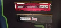 8GB Memória RAM DDR4 2400mhz (2x4GB) HyperX/Ballistix