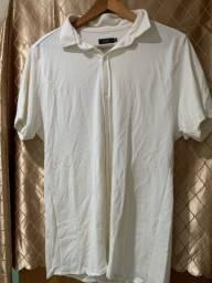 Camisa Branca Foxton M botão manga curta