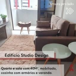 Edifício Studio Design - mobiliado, Ótimo investimento!