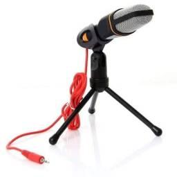 Promoção Microfone condensador com tripé a pronta entrega