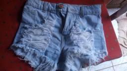 Short jeans sem lycra