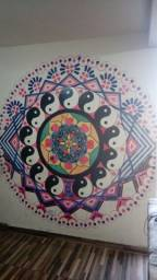 Arte na parede faço na sua casaç ou sua empresa