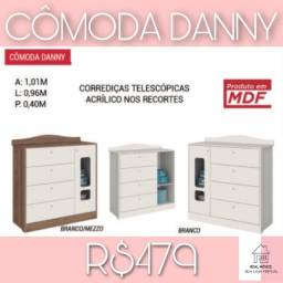 Cômoda Danny 1 porta e 4 gavetas