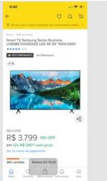 Vendo TV Samsung Series Business LED 4K 65""