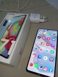 Samsung A71 com caixa e nota fiscal, sem marcas de uso