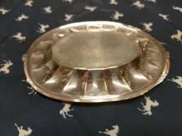 cinzeiro  prata sheffield antigo .