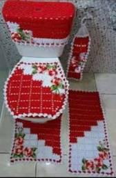 Jogo de banheiro em crochê 5 peças