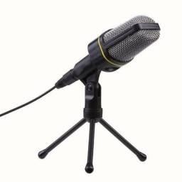 Microfone condensador com tripé novo a pronta entrega