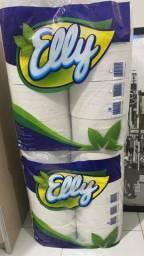 Vendo  15 rolos de papel higienico, marca elly, papel comum.