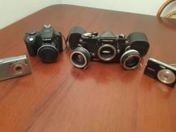 Câmeras Sony Nikon digital analógica