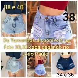 Shorts jeans Novos disponíveis