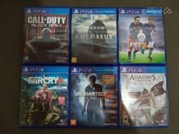 Jogos de PS4 60 reais cada, aceito proposta