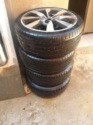 Rodas 17 com pneus 80%