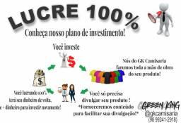 LUCRE 100% COM CAMISAS PERSONALIZADAS