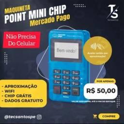 Máquina Point Mini Chip D175 Mercado Pago Não precisa do celular