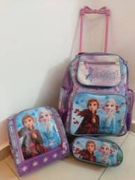 Kit Bolsa Escolar Frozen