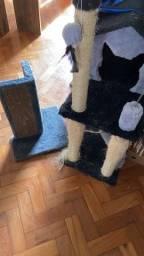 Kit gato com arranhadores caixa de transporte