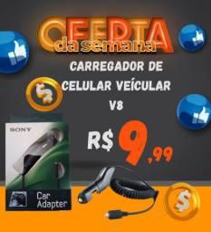 CARREGADOR DE CELULAR VEÍCULAR V8