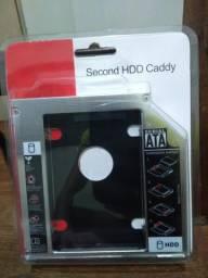 Adaptador Caddy 12.7mm para segundo HD/SSD no notebook
