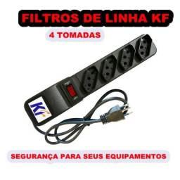 Filtro de linha 4 tomadas kf