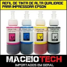 Kit 4 cores refil de tinta de alta qualidade compatível com impressoras Epson 400ml de tin