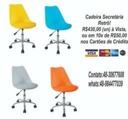 Pronta Entrega; Cadeira Secretária, Design Moderno e Qualidade!