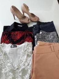 Lote de roupas feminino