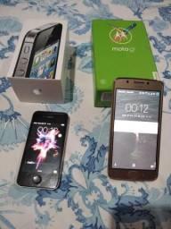 V/T iPhone 4S novinho e motoG 5 novo