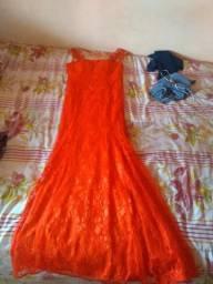 Vestido de Festa coral TAM 42