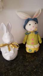2 coelhos para decoração 30.00