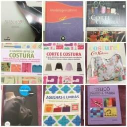 9 Livros de corte e costura- modelagem - Moda