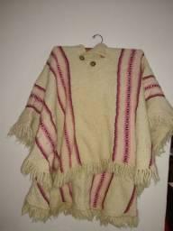 Pala/poncho de lã de ovelha