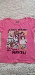 Baby look rosa Star Wars tamanho P